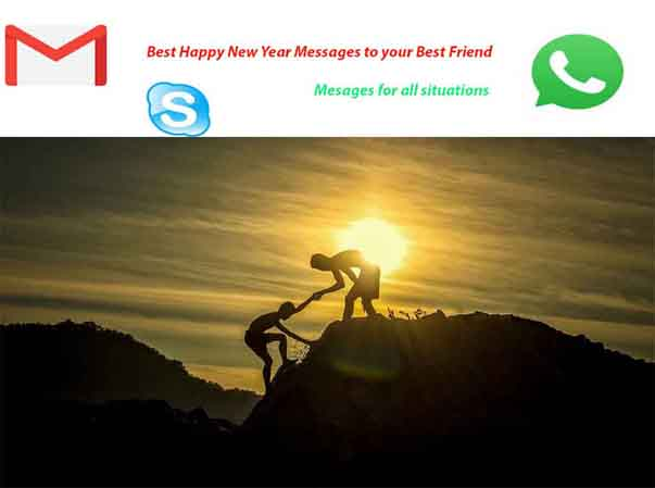 Happy New Year messages to best friends