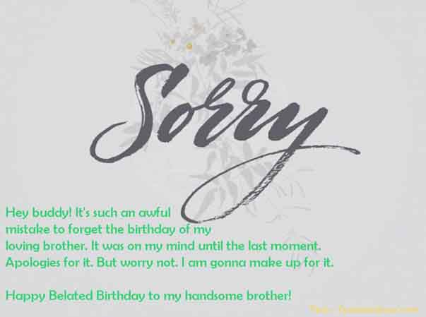 Belated Happy Birthday To Brother Image Message