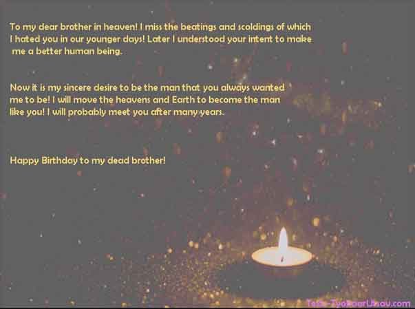 Birthday wish to deceased brother Image