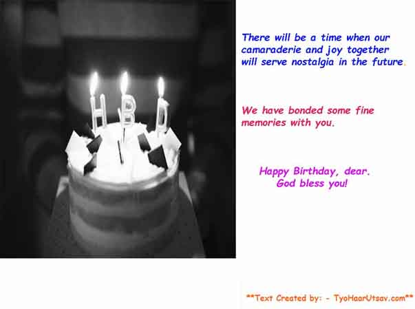 Example of Heartfelt emotional Birthday message for your colleague