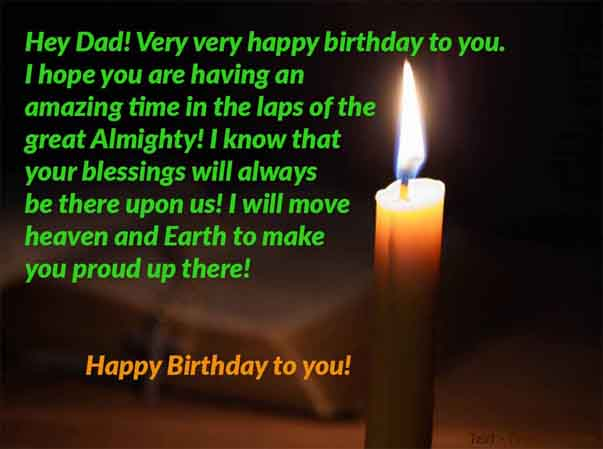 Image Text of Deceased Dad Birthday Wish From Children