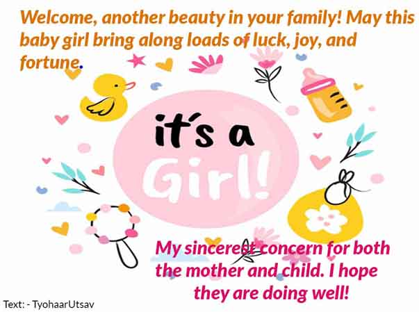 Image of Babygirl happy Message to your friends and colleagues