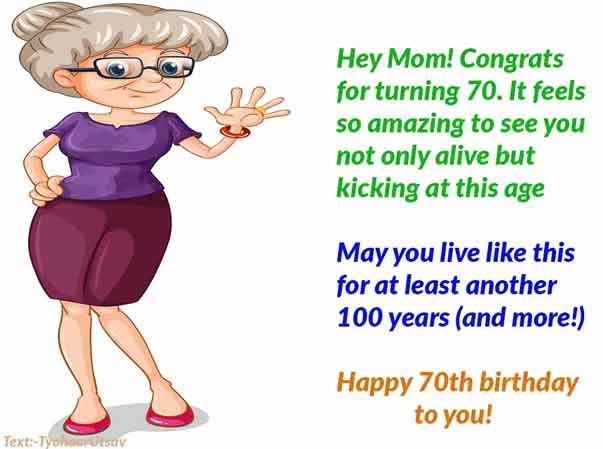 Image of Happy Birthday to Mother for Turning 50,60,70th Birthday and more