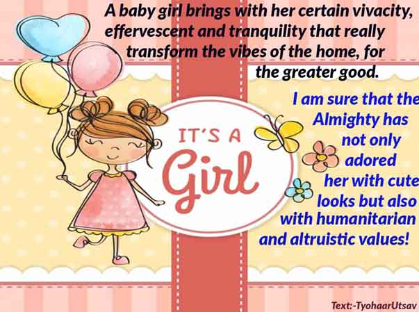 Special Congratulation message to Father and Mother for the baby child birth