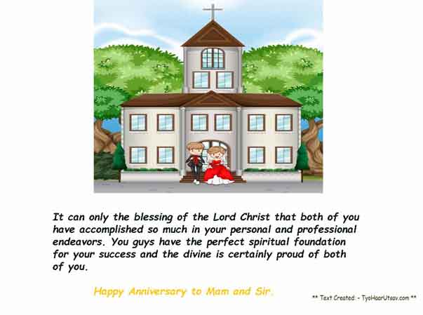 Wishes on the occasion of wedding anniversary to your Boss and his dear wife