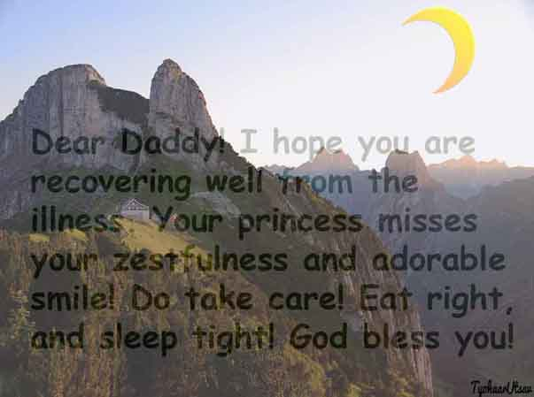 Get Well Soon Daddy from Daughter wishes