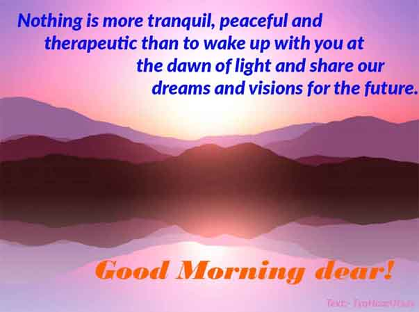 Image and text of Simple Wishes of Good Morning To your loving husband