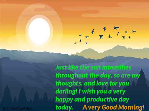 Romantic Morning Wish to your Boyfriend Image and Text