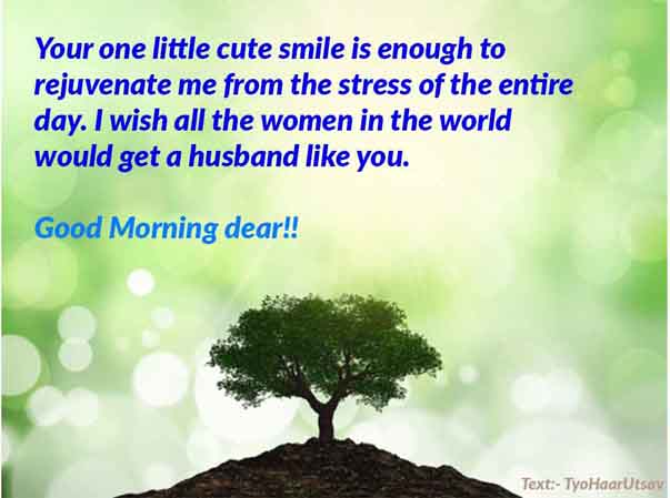 Short Wishes of Good morning to your loving husband Image and Text