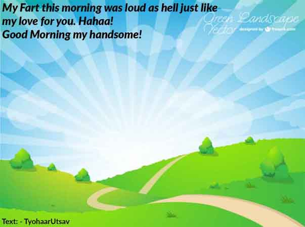 Very funny Sarcastic morning wish to your boyfriend Image