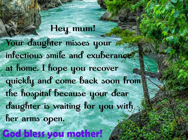 Image of mumma please recover soon Wishes from daughter